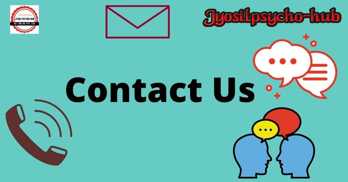 Contact us page (Jyosilpsycho-hub)