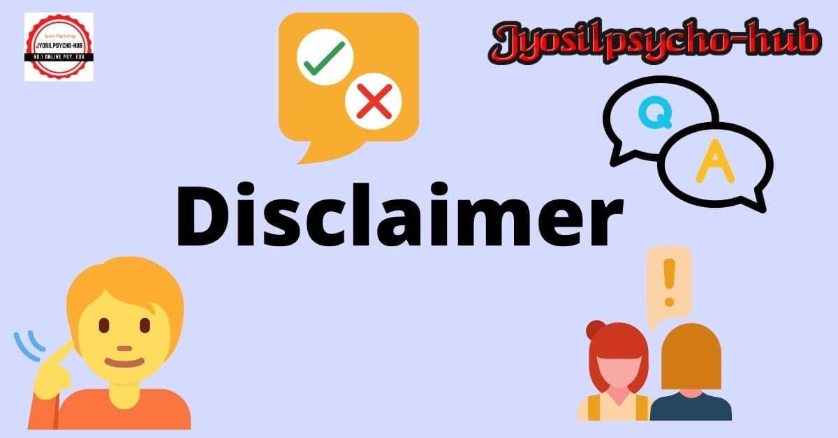 Disclaimer page (Jyosilpsycho-hub)