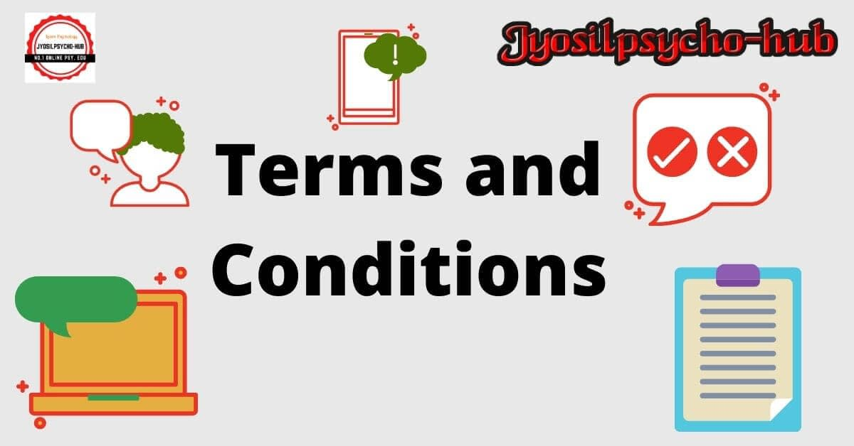 Terms and conditions page (Jyosilpsycho-hub)